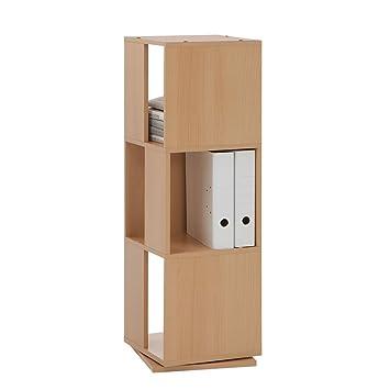 Drehregal Ordner fmd 291 001 bu tower drehregal mit 3 fächern amazon de küche