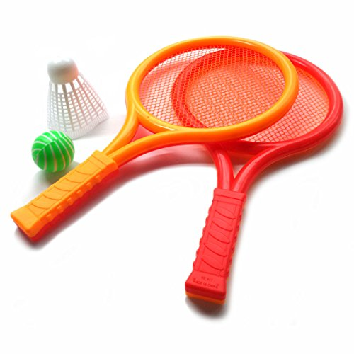 Tennis Badminton Racket Toy Set Kids with 2 Rackets (Tennis Plastic Racket)