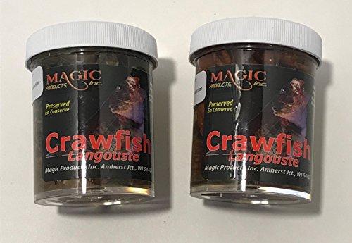 Magic Preserved Live Bait Crawfish 2 jar Bundle Perch Fishing Bait Wallleye Striper Lures