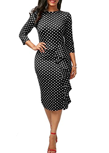 ladies 3/4 sleeve evening dresses - 5