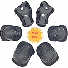 Kids Safety pad - knee Skating pads - Sports Protective Gear set is 6 Pieces Helmet Knee Elbow wrist Pads for children - Multi Sports Use Skateboarding Inline Rollerblade Cycling BMX Bicycle