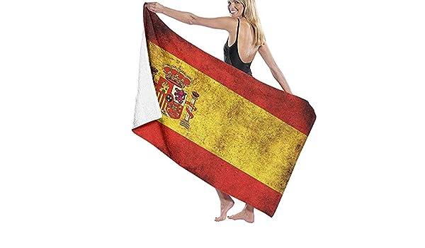 Tedtte Vintage España Bandera Toallas de baño para baño Ducha Deportes Gimnasio Camping Surf natación: Amazon.es: Hogar