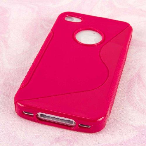 MPERO FLEX S Series Protecteur Coque Etui Case pour Apple iPhone 4 / 4S - Hot Pink