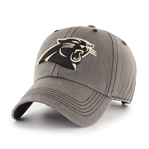 (NFL Carolina Panthers Deck Hand OTS Challenger Adjustable Hat, Charcoal, One Size)
