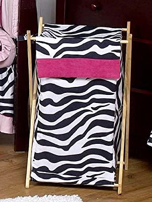 Baby And Kids Funky Zebra Clothes Laundry Hamper By Sweet Jojo Designs from Sweet Jojo Designs