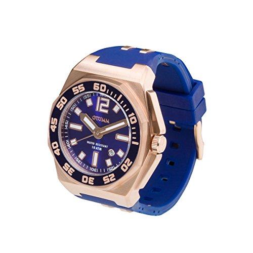 Vorschaubild OTUMM Sports Calender Herren-Armbanduhr Blau