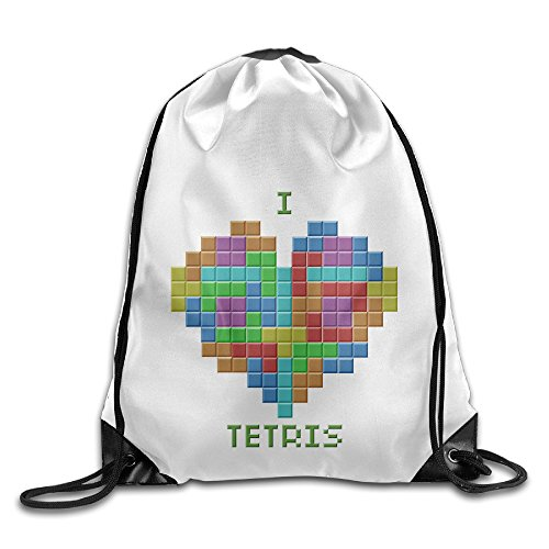 [Bekey Tetris Gym Drawstring Backpack Bags For Men & Women For Home Travel Storage Use Gym Traveling Shopping Sport Yoga] (Home Made Video Game Costumes)