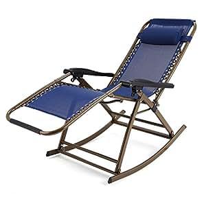Begorey silla de balanc n plegable mecedora de cero - Mecedora plegable ...