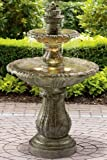 "Venetian Decorative Fountain, 57""Hx33""D, MOSS"
