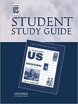 Book Reconstructing America Middle/High School Student Study Guide, A History of US: Student Study Guide pairs with A History of US: Book Seven by Joy Hakim (2005-11-01)