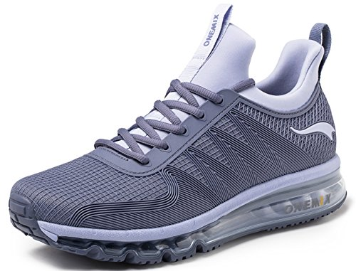 ONEMIX Women's Running Shoes Air Cushion Walking Breathable Light Sports Outdoor Sneakers Darksilver38