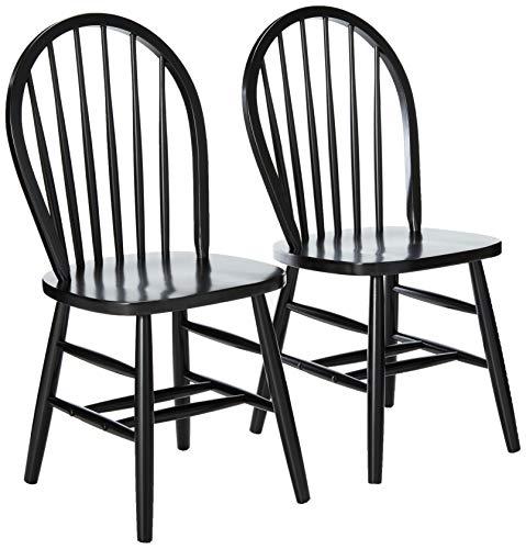 Winsome Windsor 2-PC Set RTA Black Chair