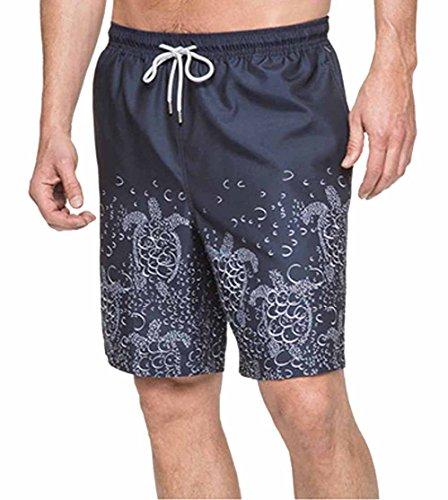 (Kirkland Signature Mens Size Large Swim Short, Bubble Turtles Navy, Small)