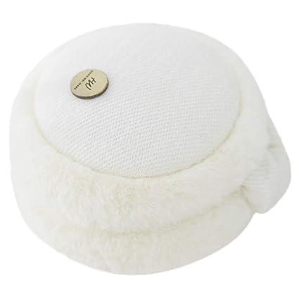 Unisex Knit Foldable Earmuffs Faux Fur Furry Fleece Ear Warmer Winter  Outdoor Ear Muffs for Men & Women (Picture, White)