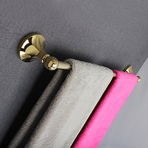 towel rack/Thickened round gold-plated copper bar/towel rack/Bathroom accessories the bathroom/Towel Bar/Towel hanger-B well-wreapped