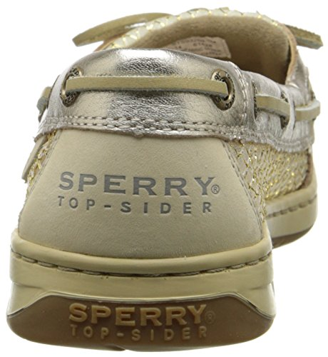 Sperry Top-Sider Angelfish metálico de malla de la mujer Boat Shoe Linen/Platinum