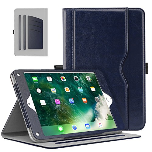 MoKo Case Fit iPad 9.7 5th/6th Generation - Slim Folding Stand Folio Cover Case Fit Apple iPad 9.7 Inch 2018/2017 with Document Card Slots, Multiple Viewing Angles, Indigo