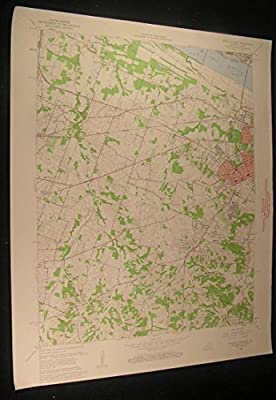 Paducah West Kentucky Hendron Lone Oak 1959 vintage USGS original Topo chart map