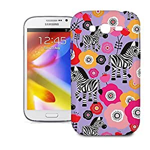 Phone Case For Samsung Galaxy Grand i9082 - Zebra Blossoms Purple Designer Slim