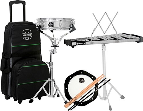 Mapex Snare Drum/Bell Percussion Kit with Rolling Bag (Drum Bell Snare Kit)