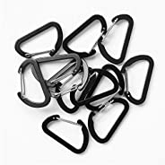 Small Keychain Keyring Clips Mini Carabiner - Micro Tiny Aluminum Hooks for Home Rv Camping Fishing Hiking Tra
