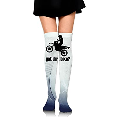 WRE8577 Women's Knee High Compression Thigh High Socks Got Dirt Bike Motocross Racing For Walking Sport Long Stockings