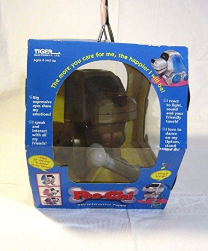 Qiyun POO Chi Interactive Puppy New in Box Hasbro Tiger Electronics Red Silver 2000