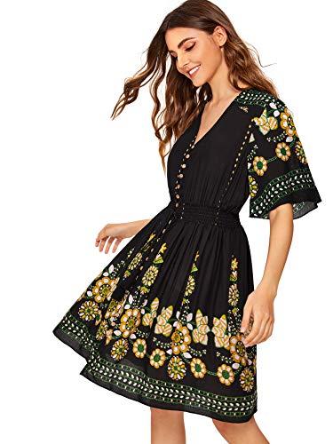Milumia Women's Boho Button Up S...