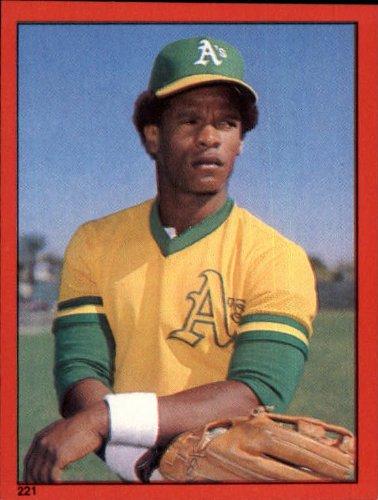 1982 Topps Baseball Sticker #221 Rickey Henderson Mint - Baseball Sticker Topps 1982