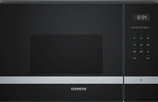Siemens - Microondas bf555lms0 acabado cristal negro con ...