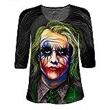 Womens Lace Sleeve Shirt Shaff Oceans the Joker Batman Heath Ledger (Medium)