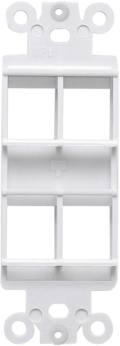 AllSmartLife Wall Plate QuickPort Decora Insert for 6-Port Keystone Jack White