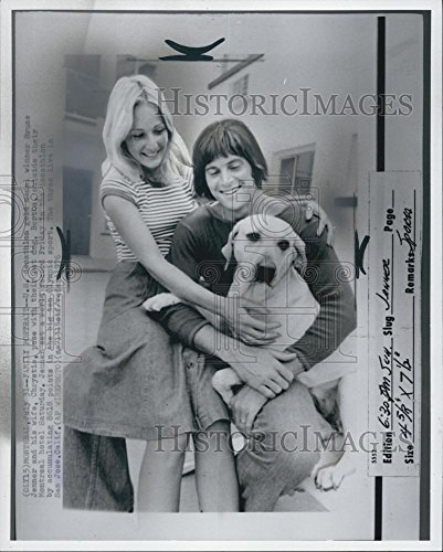 1976 Persuade Photo US Decathlon Winner Bruce Jenner and Wife Chrystie