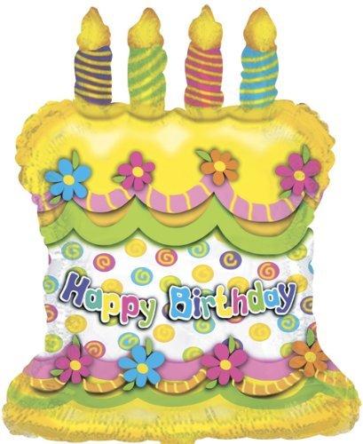 """Amazon.com: 28"""" Feliz cumpleaños pastel velas globo de ..."""