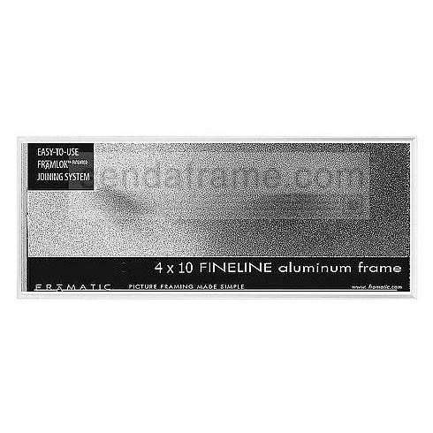 """Fineline Picture Frame Color: White, Size: 4"""" x 10"""" Frame/None Mat -  Framatic, F0410W"""