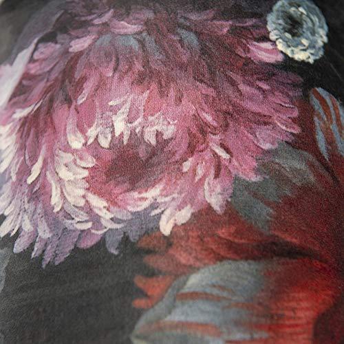 Rund gerade Schirm Pendelleuchte,Schirm Stehleuchte QAZQA Modern Baumwolle Lampenschirm velours 20//20//20 Blumen Gold//Messing