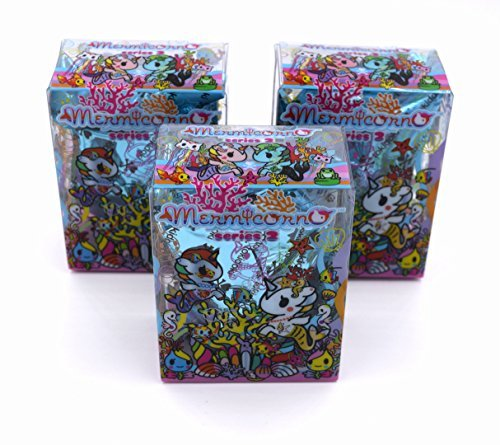 Perlina Novelty - Tokidoki Mermicorno Series 2 Designer Vinyl Figures (3-Pack)