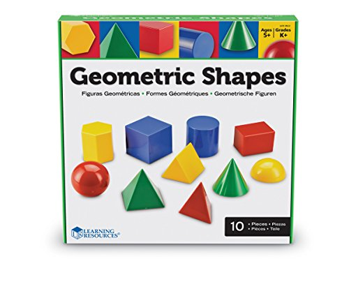 Learning Resources Large Geometric Shapes, 10 Pieces