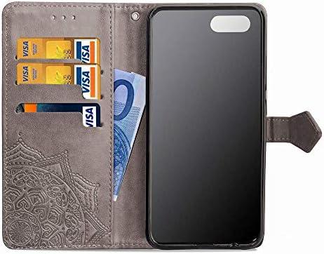 Lomogo OPPO R15 Neo/Realme 2 ケース 手帳型 耐衝撃 レザーケース 財布型 カードポケット スタンド機能 マグネット式 オッポR15 Neo 手帳型ケース カバー 人気 - LOSDA051270 緑