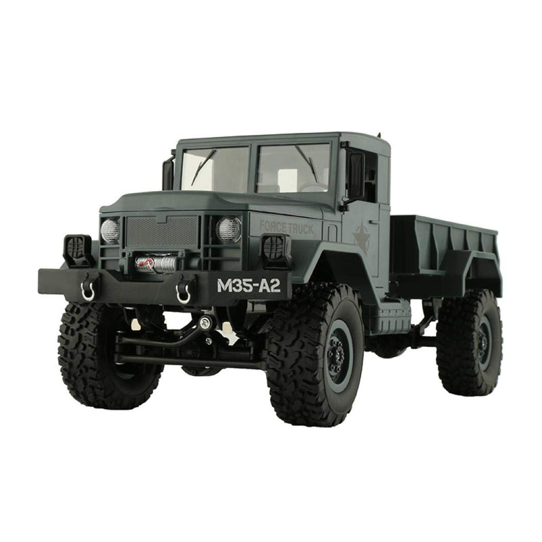 Roysberry Toys Toy Car Carrier, RC Military Truck Army with WiFi Camera , 1:16 4WD Off-Road Car APP Control Metal Toys Cars with Remote Trucks Buggy Christmas Birthday Gifts Hobby Toy Boys (Green)