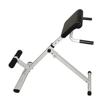 Lovinland Fitness Silla romana abdominal espalda cintura entrenamiento interior ejercicio Hyper banco, Blanco