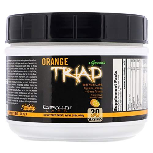 Controlled Labs Orange Triad + Greens, Orange Flavor, 0.9 lbs (408 g)