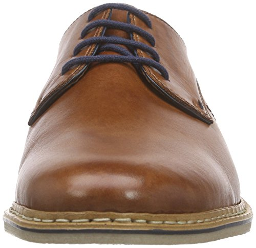 up Navy Men Derby Braun 24 Brandy 14525 Marron Homme Lace Rieker qHwUzEg