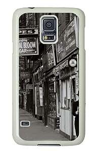 Samsung Galaxy S5 Case Cover - Old Photos Silicone Rubber Case Back Cover for Samsung Galaxy S5 - PC White