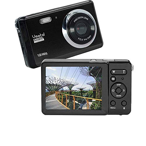 3 inch TFT LCD Rechargeable HD Mini Digital Camera,Vmotal Video Camera Digital Students Cameras with 8X Digital Zoom / 12 MP/HD Compact Camera for Kids/Beginners/Elderly (Black)