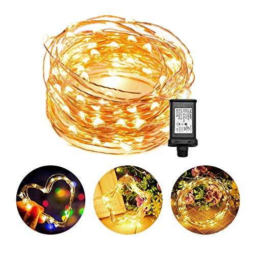 - Chalpr LED Fairy String Lights , 33ft/10M 100 LEDs Indoor and Outdoor Waterproof Decorative Lights with UL Approved, for Bedroom, Garden, Patio, Parties, Wedding