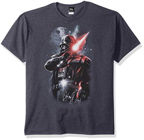 Star Wars Men's Dark Lord Darth Vader Graphic Shirt, Navy Heather, Large ()