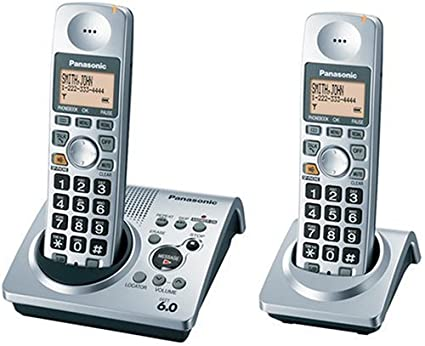 amazon com panasonic dect 6 0 series dual handset cordless phone rh amazon com panasonic cordless phone kx-tga101s manual Panasonic Cordless Phones Tech