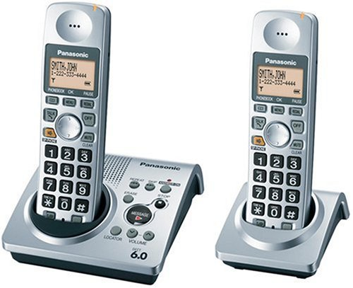 amazon com panasonic dect 6 0 series dual handset cordless phone rh amazon com panasonic landline phone manual panasonic home phone instruction manual
