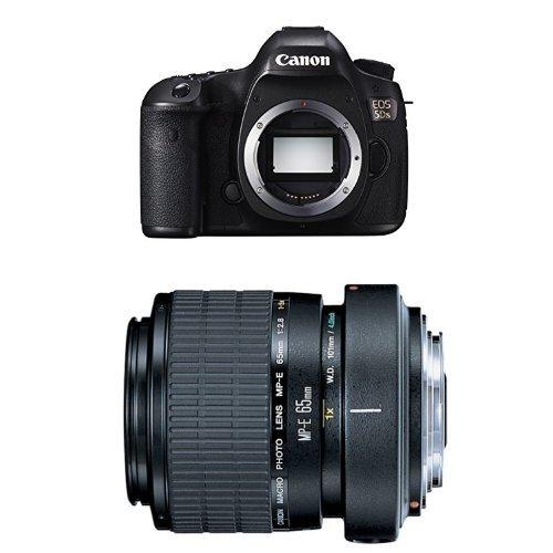 (Canon EOS 5DS Digital SLR Camera w MP-E 65mm F2.8 1-5x Macro Lens Bundle)